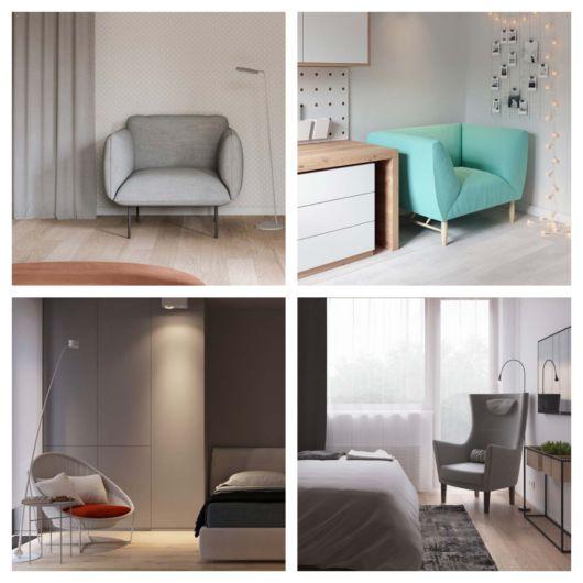 Poltrona para quarto – 70 peças perfeitas para descansar e decorar!