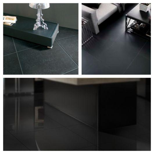Porcelanato preto na decoração – 60 ideias modernas para se inspirar!