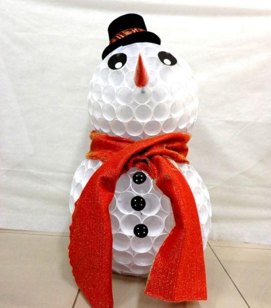 Boneco de neve elegante (Fonte: 1001 Festas)