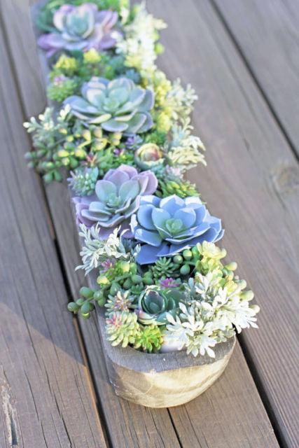 arranjo plantas artificiais