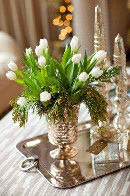 vaso dourado decoração