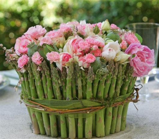 Arranjo de flores naturais para mesa