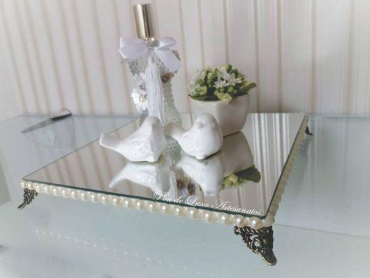 Bandeja espelhada decorativa