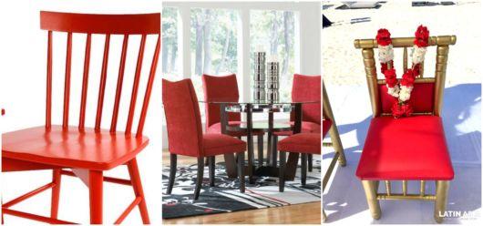 modelos de cadeira vermelha