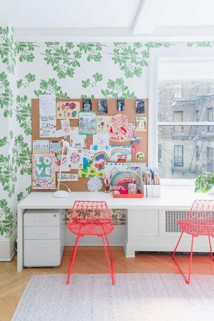 cadeira vermelha para quarto