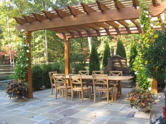 mesa de jantar jardim