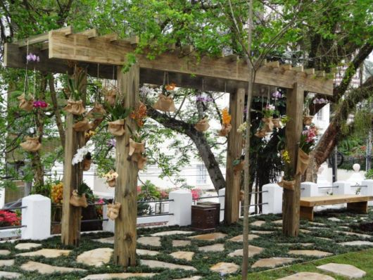 orquidário de madeira
