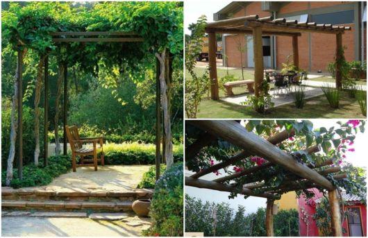 projetos rústicos jardim