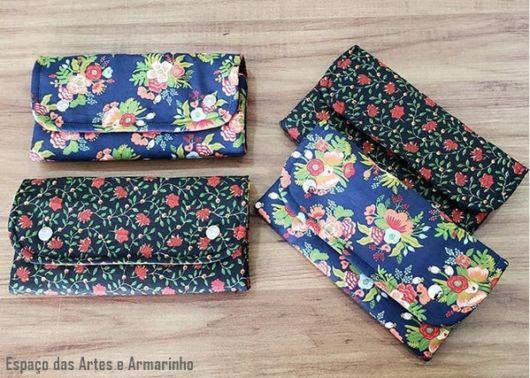 carteiras de tecido
