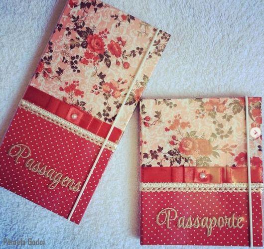 porta passaporte decorado