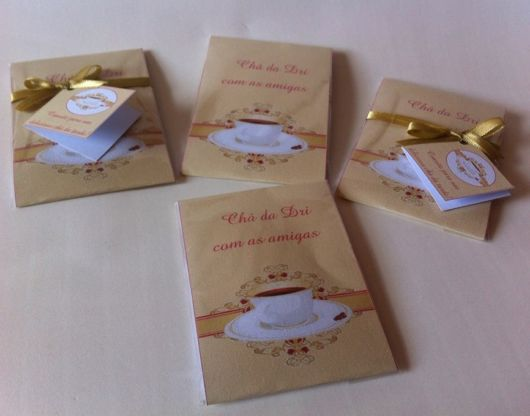 convite para chá da tarde
