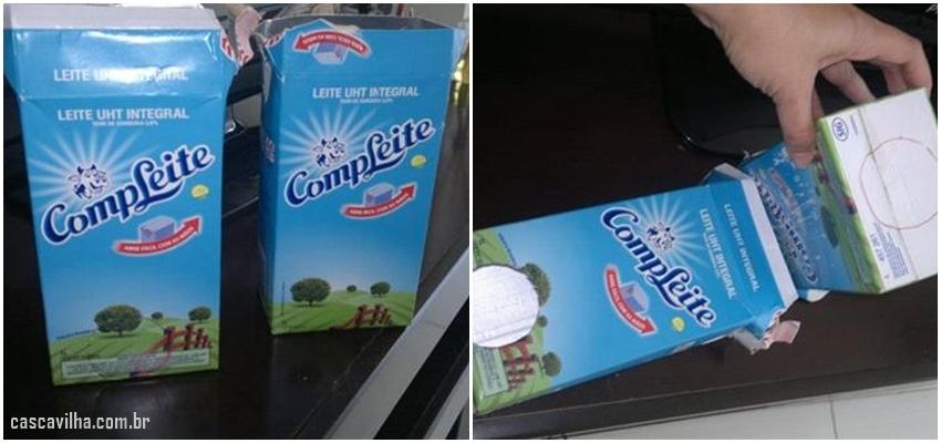 puxa-saco de caixa de leite