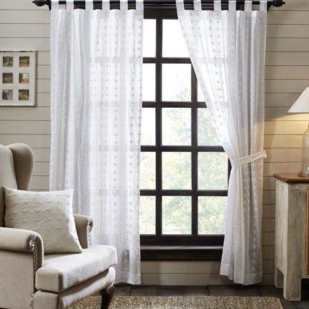 cortina bordada para sala