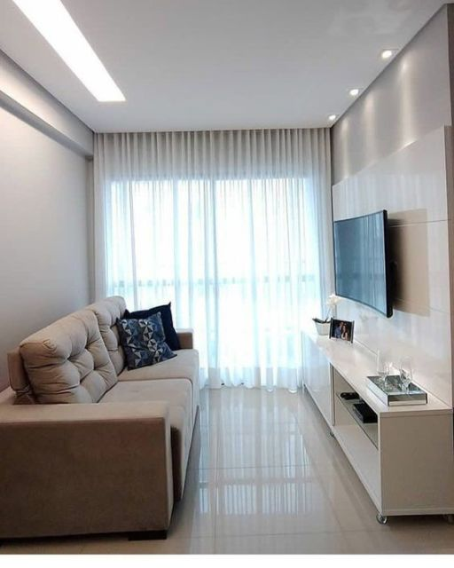 cortina para sala apartamento