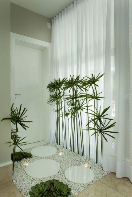 decoração com cortina branca