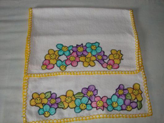 patchwork em pano de prato