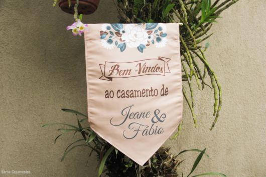 bandeirola personalizada casamento