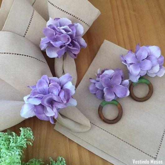 porta guardanapo de flor
