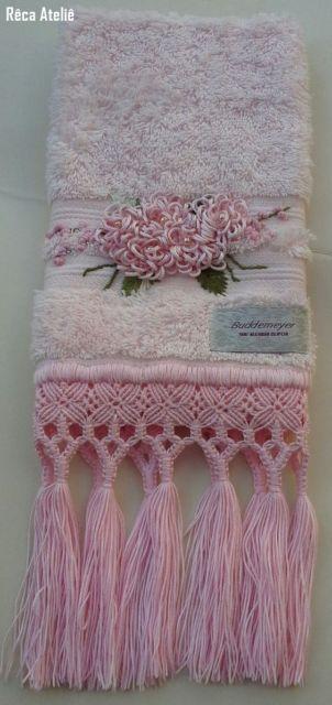 toalha de lavabo decorada