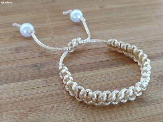 pulseira de fio encerado