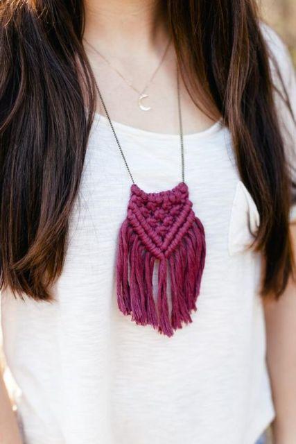 colar longo artesanal