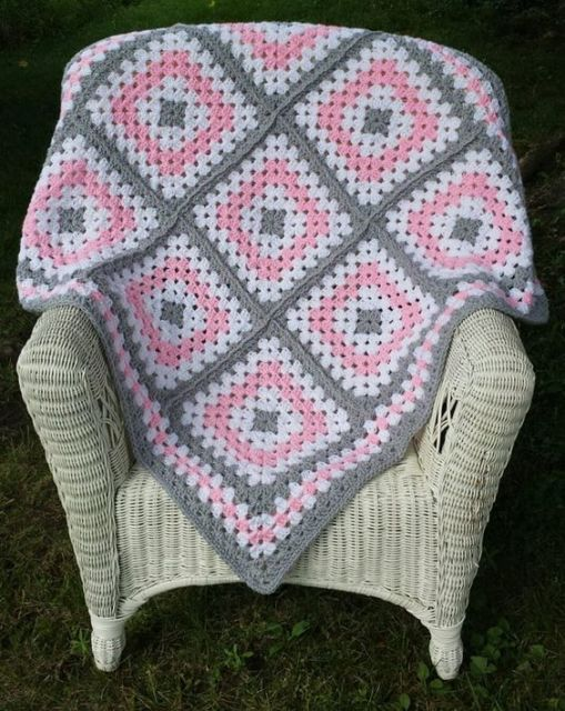 modelo de crochê square