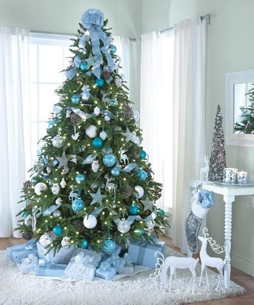 modelos de árvore de natal azul