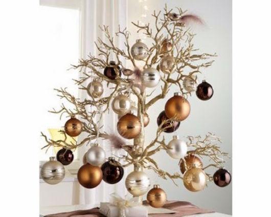 modelos de árvore de natal de galho seco