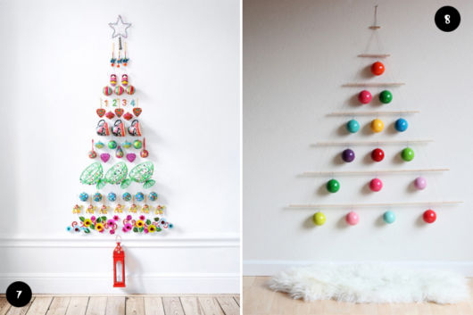 modelos de árvore de natal criativos