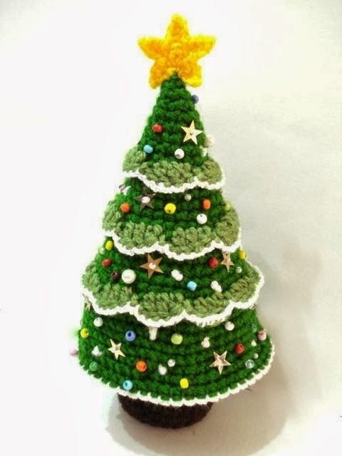 modelos de árvore de natal de crochê