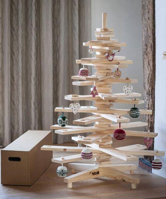 modelos de árvore de natal de madeira
