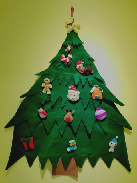 modelos de árvore de natal de feltro