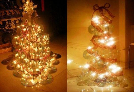modelos de árvore de natal de CD