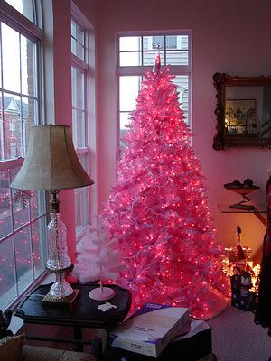 modelos de árvore de natal rosa