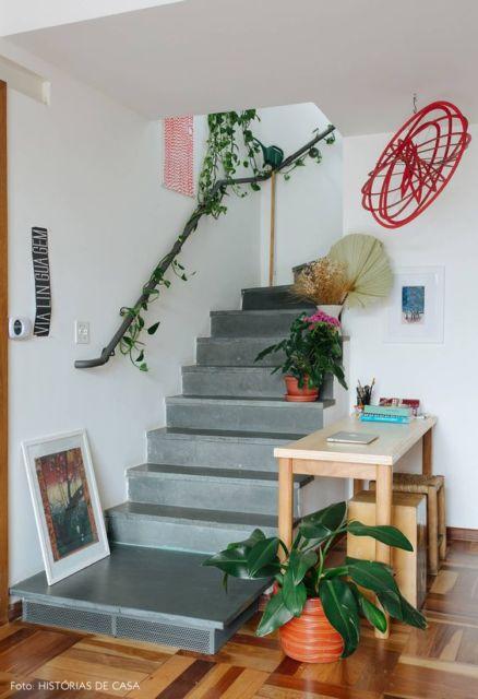 decoração escada simples