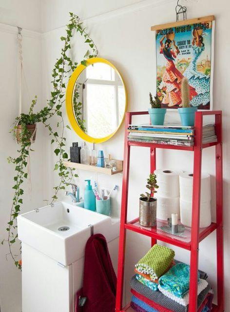 Hera na decoração do banheiro