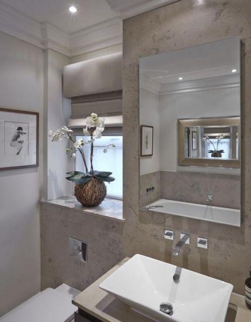 Orquídea na decoração do banheiro