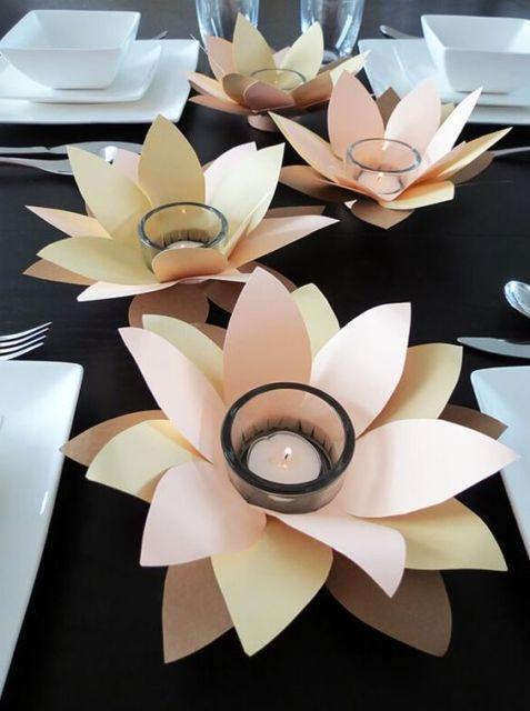 decoração com papel