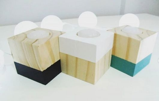 modelo quadrado de madeira