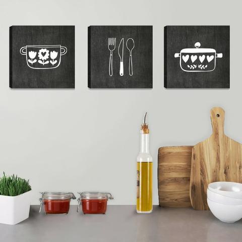 quadros para cozinha preto e branco.