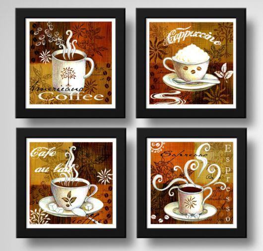 quadros de cafe.