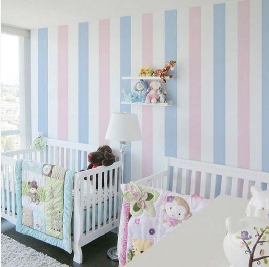 quarto azul e rosa bebê