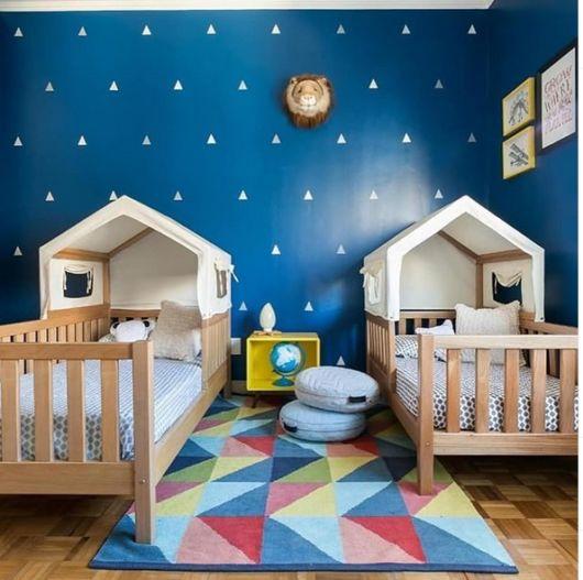 decoração quarto montessoriano compartilhado