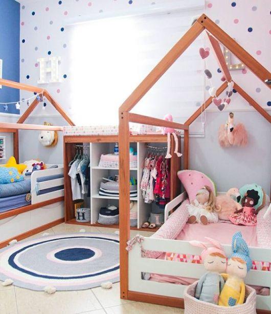 quarto com camas casinha