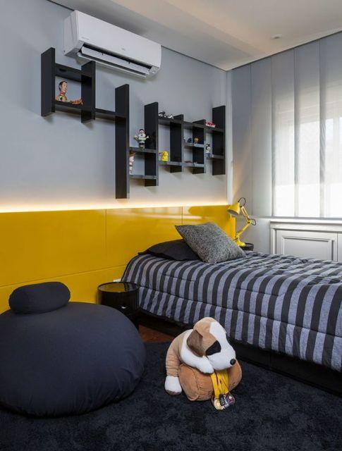quarto amarelo solteiro