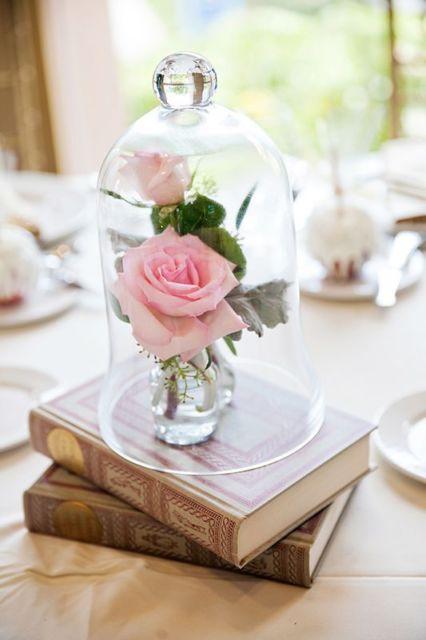 decoração com rosa