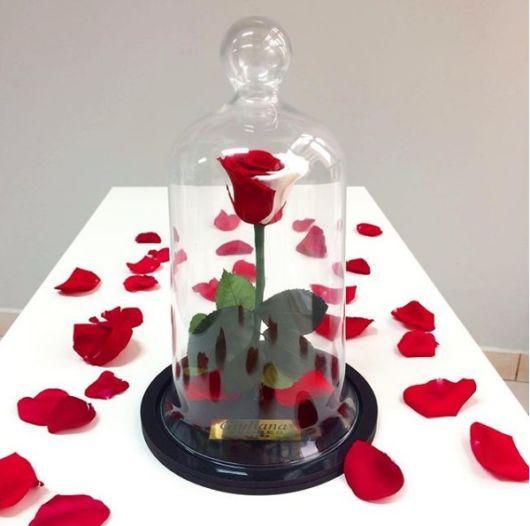 decoração com rosa vermelha