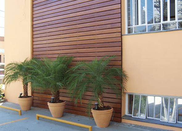 revestimento externo de madeira