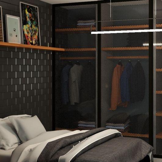 revestimento para quarto de solteiro masculino