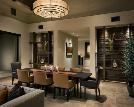 Sala de jantar decorada moderna